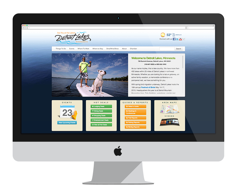 Detroit Lakes: Minnesota web design and development - tourism