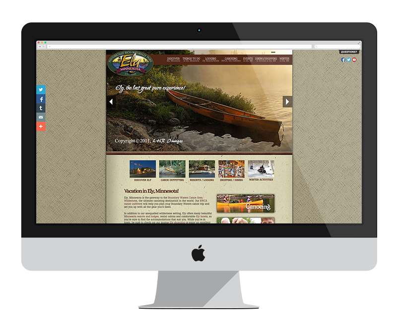 Ely Chamber of Commerce: Minnesota web design and development - tourism