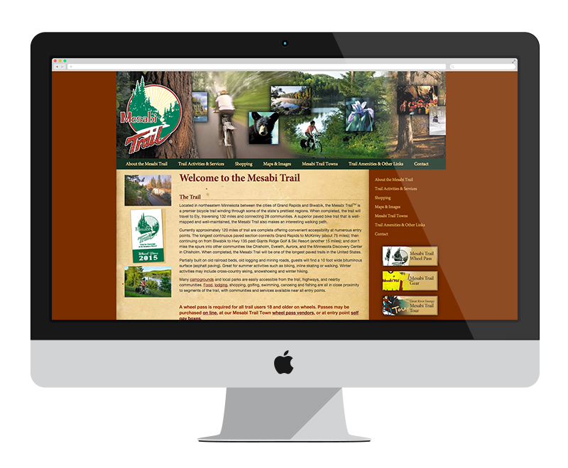 Mesabi Trail: Minnesota web design and development - tourism
