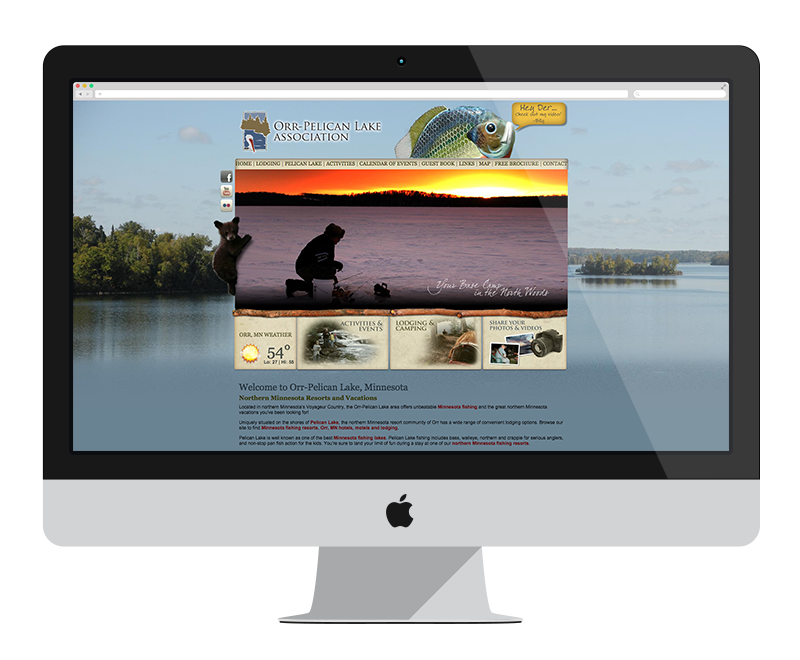 Orr/Pelican Lake Association: Minnesota web design and development - tourism