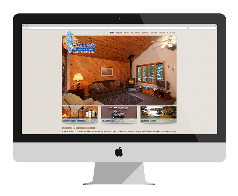 Glenmore Resort: Minnesota web design and development - tourism