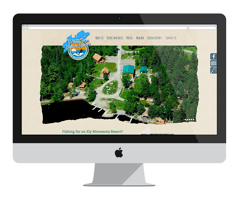 White Iron Beach Resort: Minnesota web design and development - tourism