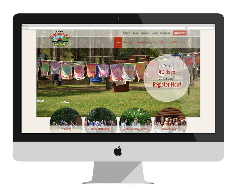Camp Esquagama: Minnesota web design and development - tourism