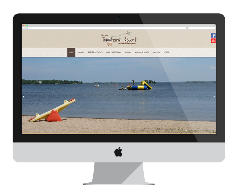 Herseth's Tomahawk Resort: Minnesota web design and development - tourism