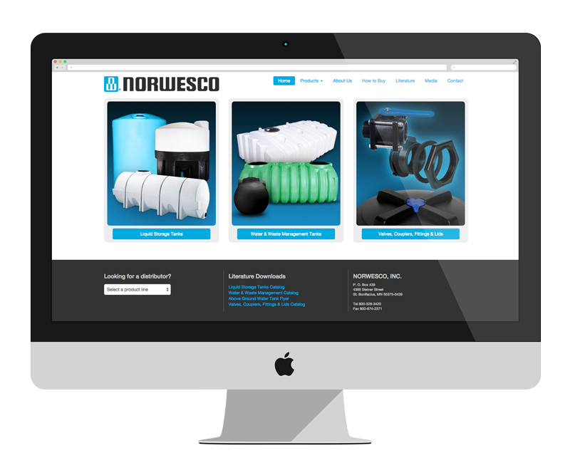 Norwesco: Minnesota web design and development - manufacturing