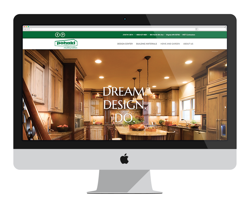 Pohaki Lumber: Minnesota web design and development - retail