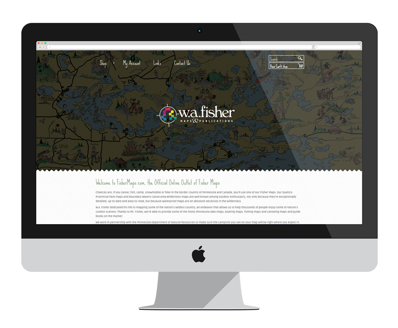 Fisher Maps: Minnesota web design and development - retail