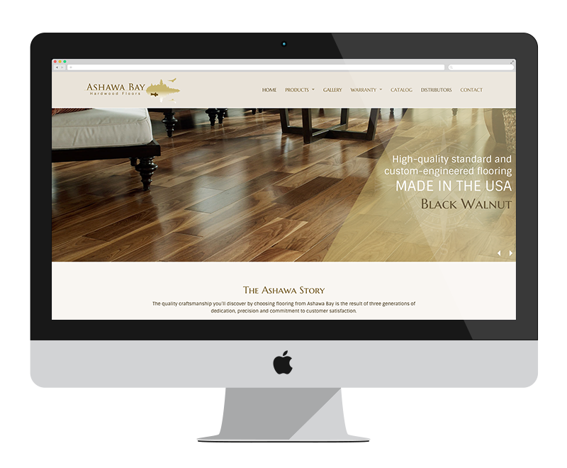 Ashawa Bay Hardwood Flooring: Minnesota web design and development - manufacturing