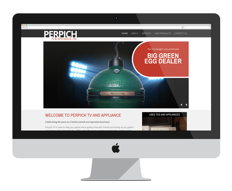 Perpich TV and Appliance: Minnesota web design and development - retail