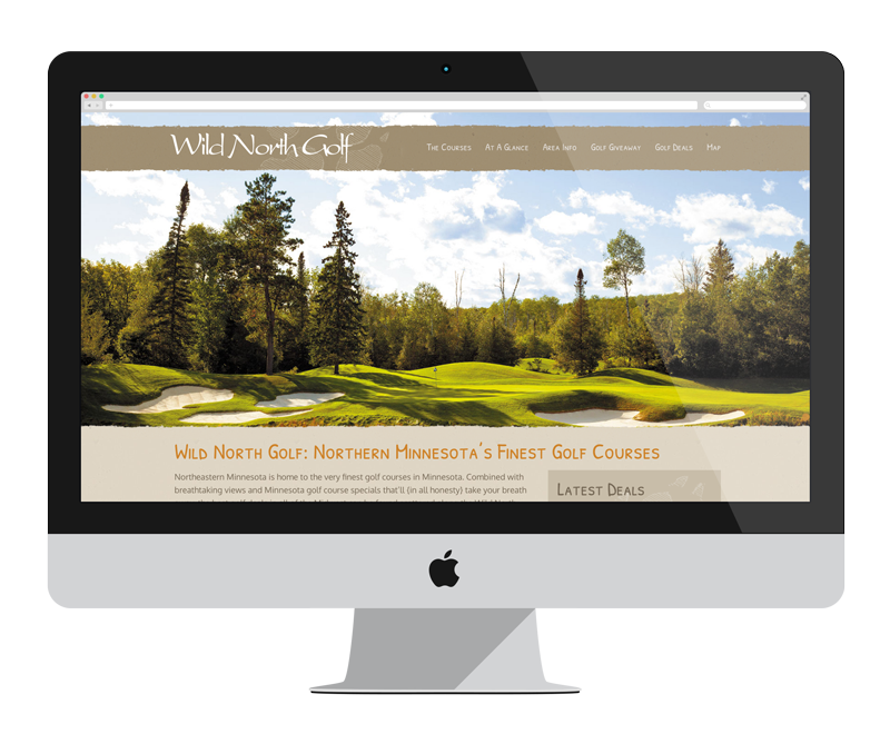 Wild North Golf: Minnesota web design and development - tourism