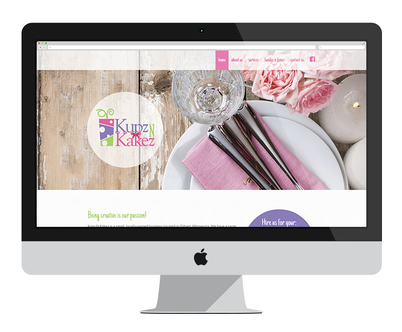 Kupz & Kakez: Minnesota web design and development - retail