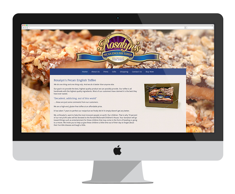 Rosalyn's Toffee: Minnesota web design and development - retail