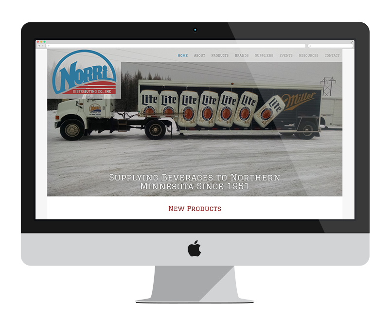 Norri Distributing Co, Inc - Minnesota web design and development - retail