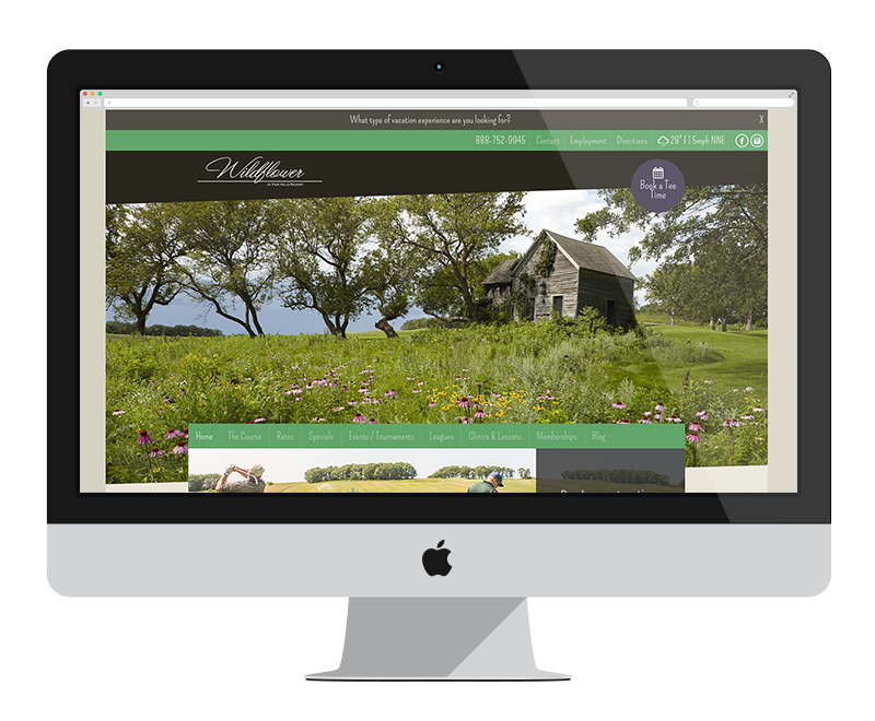 Wildflower Golf Course: Minnesota web design and development: Entertainment