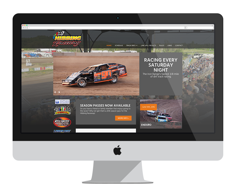 Hibbing Raceway: Minnesota web design and development: Entertainment