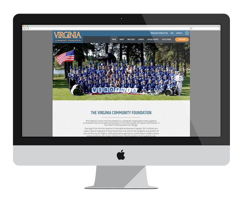 Virginia Community Foundation: Minnesota web design and development