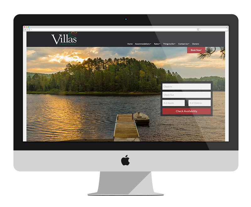 Villas at Giants Ridge: Minnesota web design and development: tourism